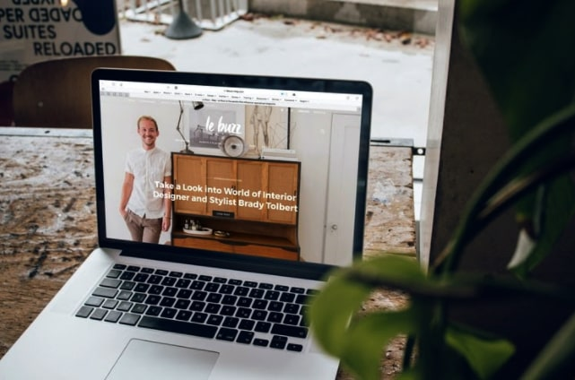 Website User Interface